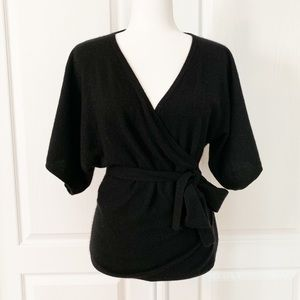 Trina Turk | Cashmere Kimono Sleeve Wrap Sweater S
